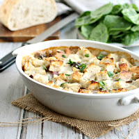 Cheesy Onion and Bread Gratin