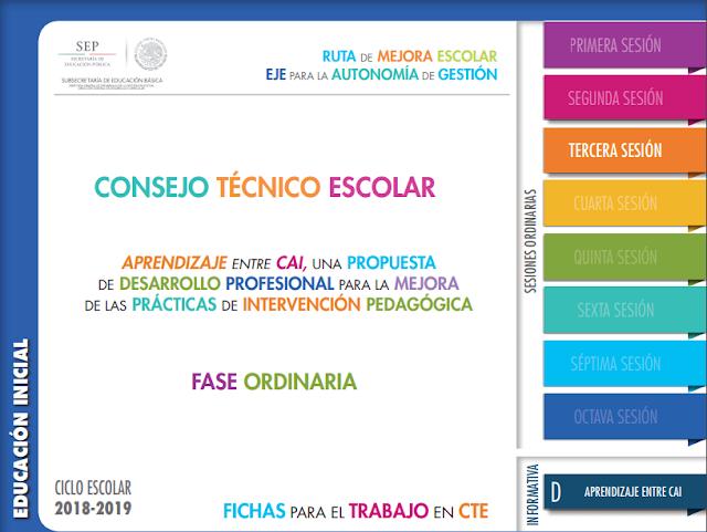 CTE Tercera Sesion Aprendizaje entre escuelas Educación Inicial