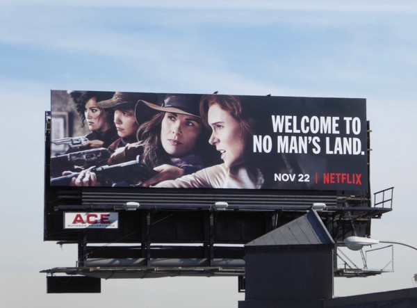 Godless series launch billboard