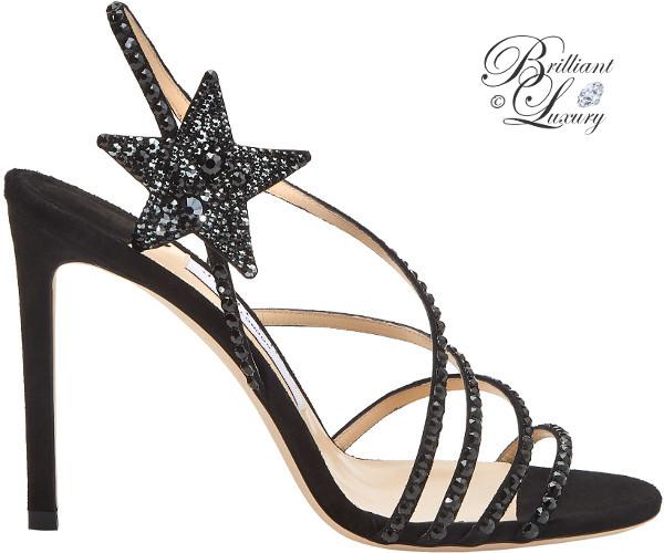 optimized pins Brilliant Luxury ♦ Jimmy Choo Lynn Black Suede Sandals with Hotfix Crystals #brilliantluxury