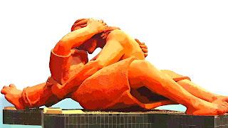 Monumento El Beso, no Parque del Amor, nos Rochedos de Miraflores, em Lima