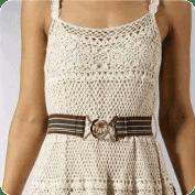 Vestido coqueto a Ganchillo
