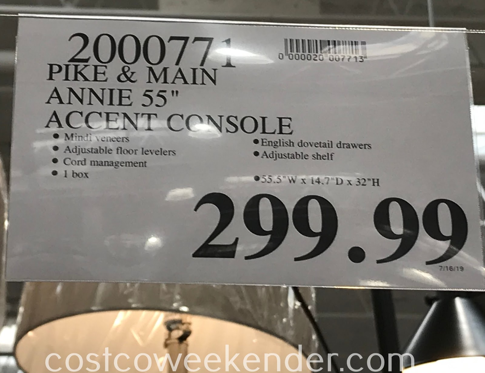 Deal for the Pike and Main Annie Accent Console at Costco