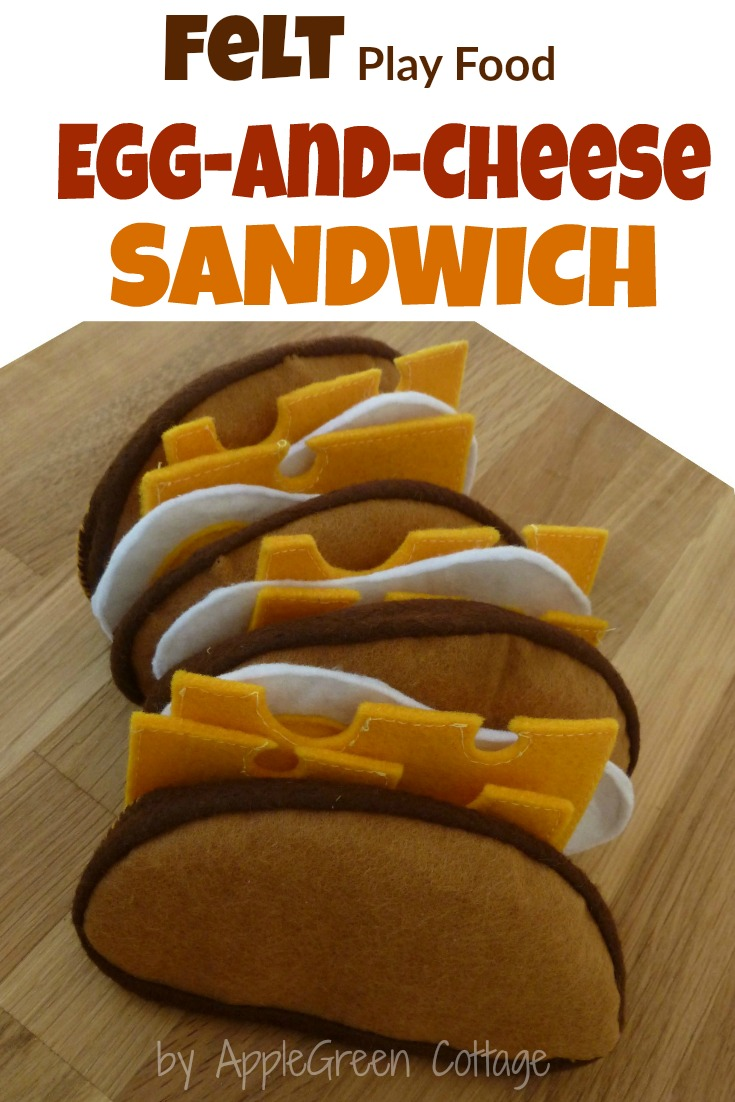 How To Sew a Felt Sandwich - Sewing Felt Play Food