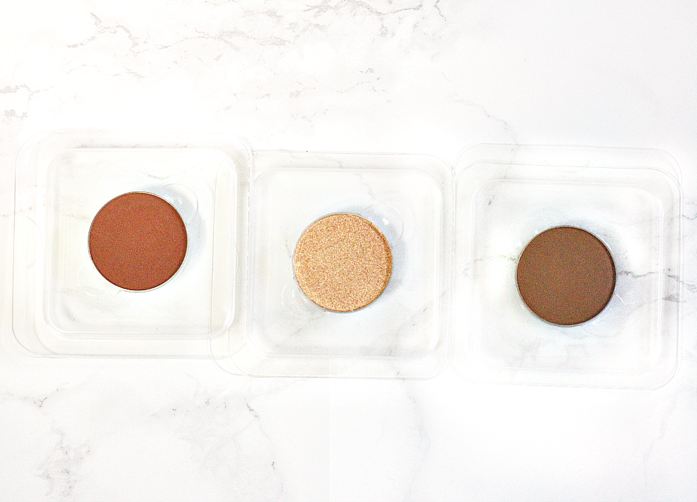 Anastasia Beverly Hills Fawn, Sienna and Peach Sorbet single eyeshadows