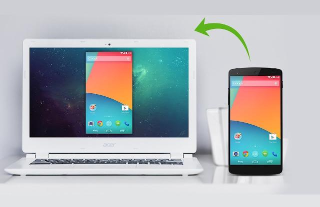 اظهار شاشة هاتف الاندرويد على الكمبيوتر بدون برامج وبدون روت و التحكم به 2018