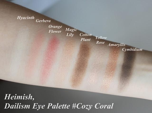 Heimish, Dailism Eye Palette #Cozy Coral