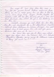 Thanks letter to Dr Shivani Sachdev Gour