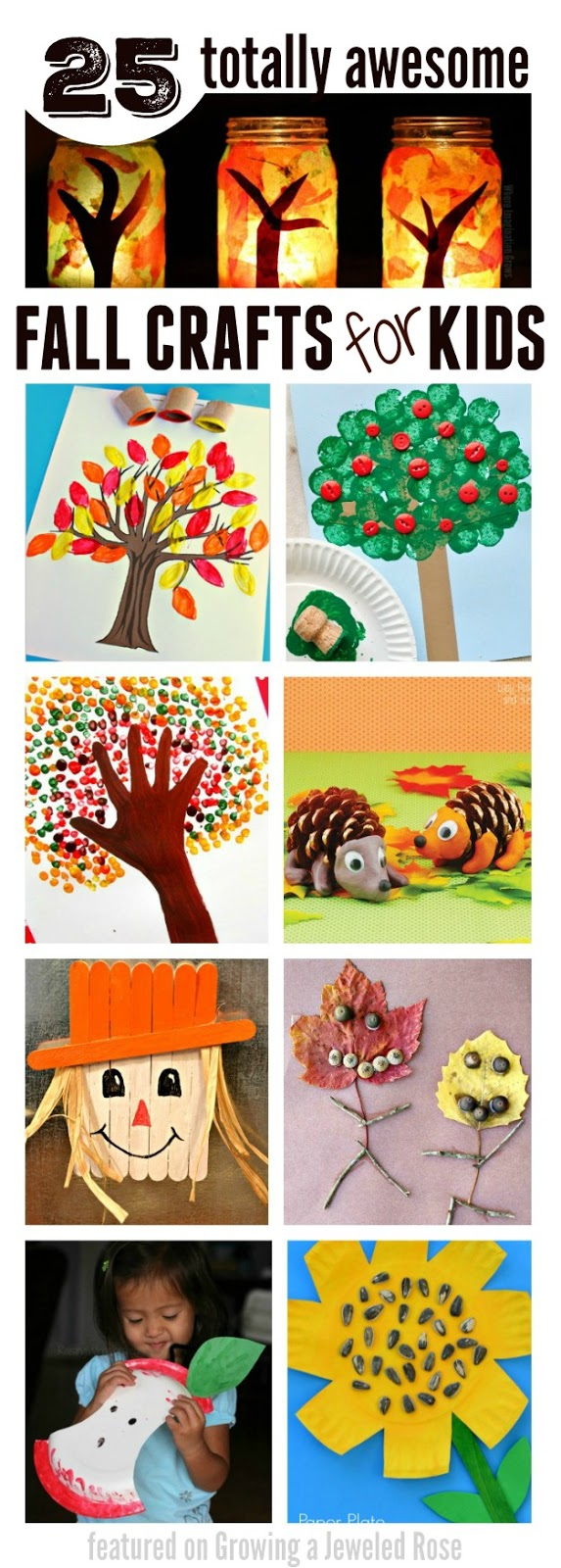 25 totally awesome Fall crafts for kids- I love these ideas!