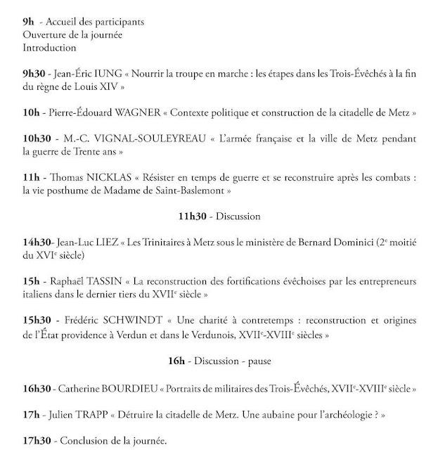 """METZ (57) - Journée d'étude """"Faire la guerre et se reconstuire"""" (16 juin 2018)"""