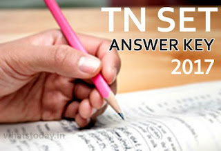 TN SET Answer Key, Tamil Nadu SET Exam Answer Key 2017, TN SET Cut Off Marks