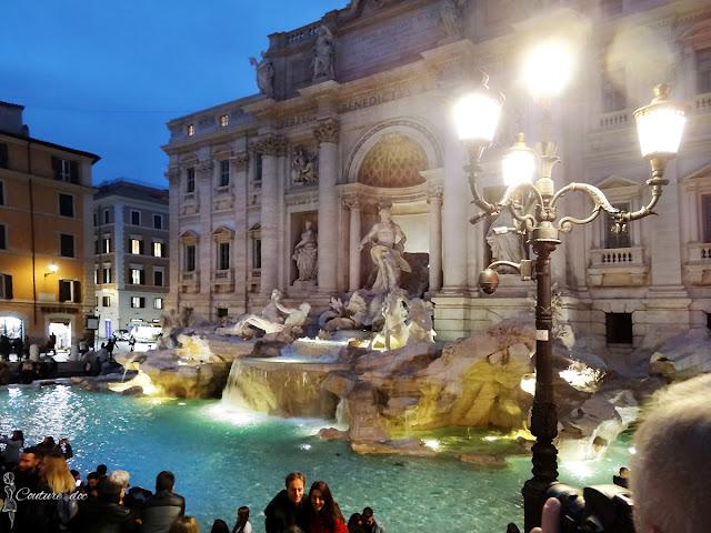 rzym, fontanna, fontana di trevi, la dolce vita