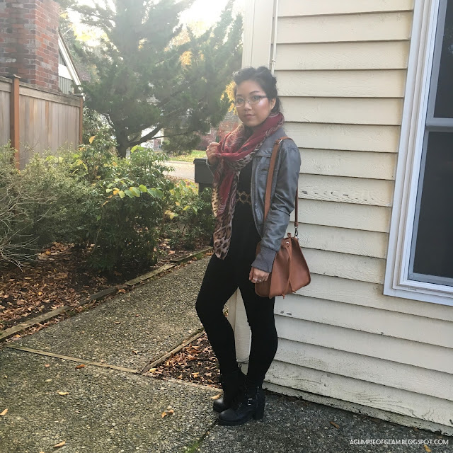 Outfit Red Leopard Print Scarf Gamiss Review - Andrea Tiffany A Glimpse of Glam