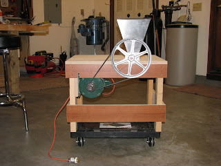 the atomic woodworker new motorized grain mill. Black Bedroom Furniture Sets. Home Design Ideas