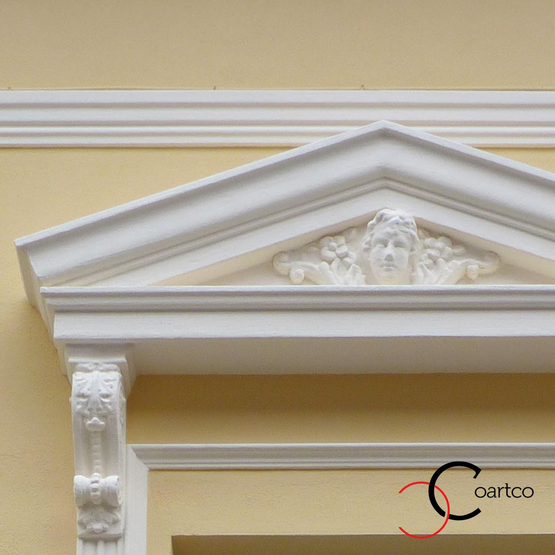 Reabilitare fatada cladiri vechi, fronton geam, fata inger, profile decorative, baghete polistiren