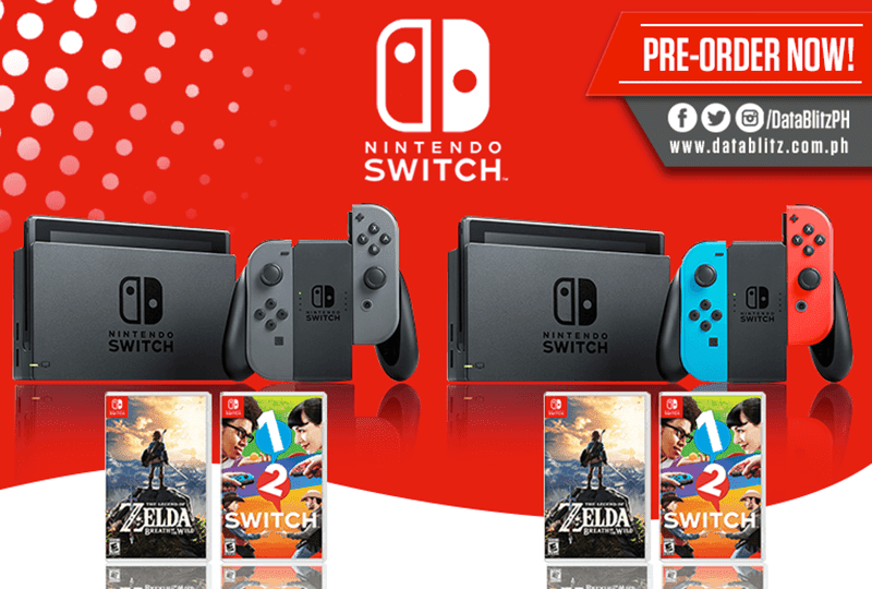 Nintendo Switch On Pre Order At DataBlitz!