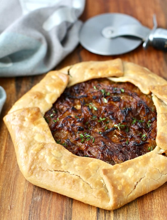 Sweet Onion Galette with Parmesan cream