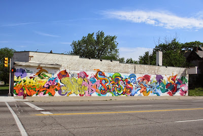 grafitti art mural MLK Avenue and 2nd avenue Detroit