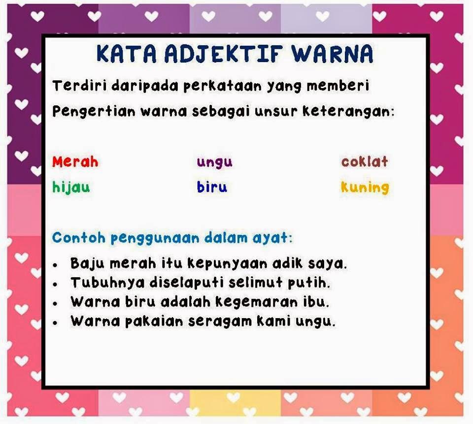 KATA ADJEKTIF Jenis  jenis kata adjektif