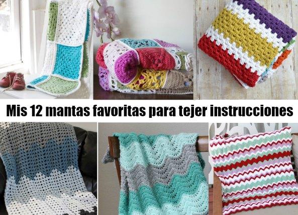 12 mantas para tejer con instrucciones