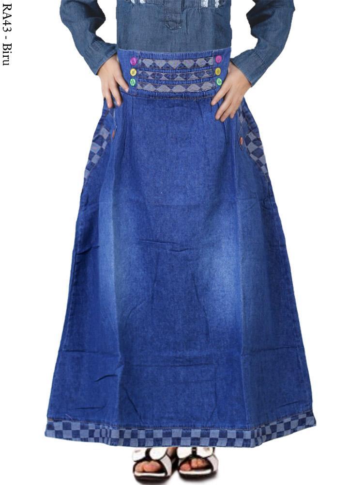 Ra43 Rok Jeans Anak Bahan Soft Jeans Busana Muslim Murah