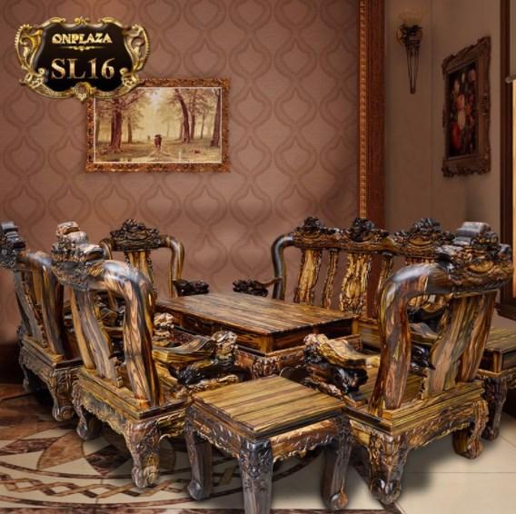 Bàn ghế gỗ mun đắt giá vô cùng