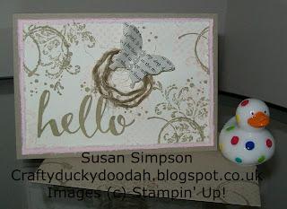 Stampin' Up! Susan Simpson Independent Stampin' Up! Demonstrator, Craftyduckydoodah!, Timeless Textures,