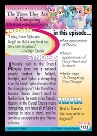 My Little Pony The Times They Are a Changeling Series 5 Trading Card