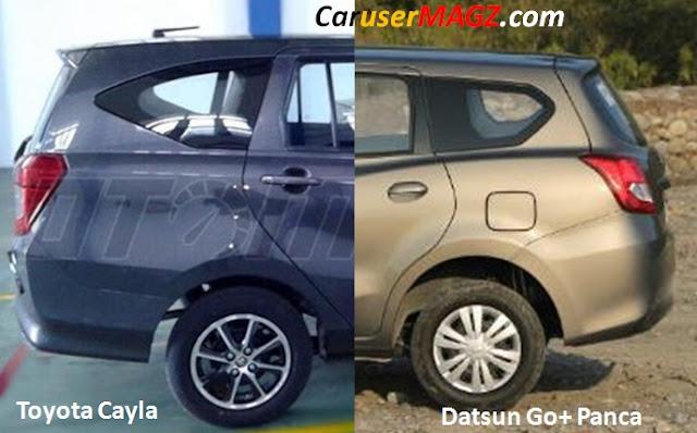 Perbandingan Panjang Kabin Belakang Toyota Cayla vs Datsun Go+ Panca