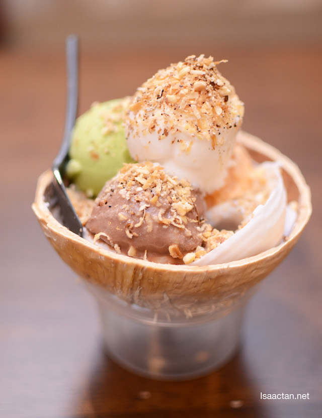 One of their signature ice cream offerings, from Sangkaya