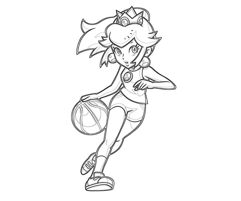 Princess peach peach play basket ball jozztweet for Free printable princess peach coloring pages