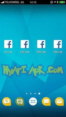 Download Multi Facebook Lite Transparan (FB1, FB2, FB3, FB4) Terbaru