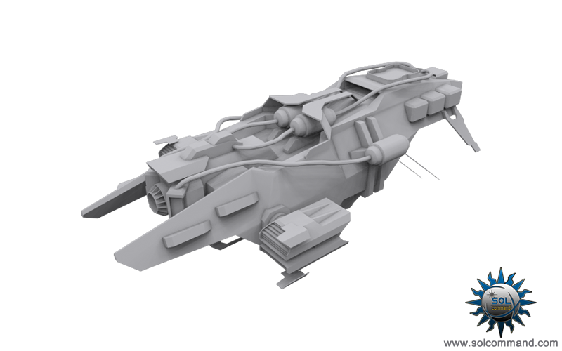 void repair frigate spaceship space craft scifi futuristic support wing solcommand original concept art 3d model destroyer game