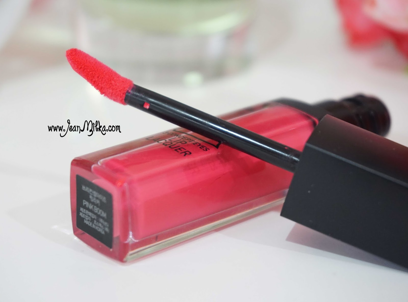 3ce lip lacquer pink boom xx orange swatch