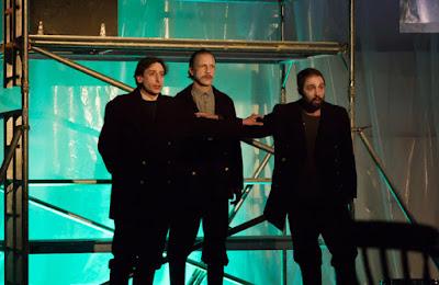 aul Curievici, Pauls Putnins, Owain Browne - Maxwell Davies: The Lighthouse - Shadwell Opera (photo Nick Rutter)