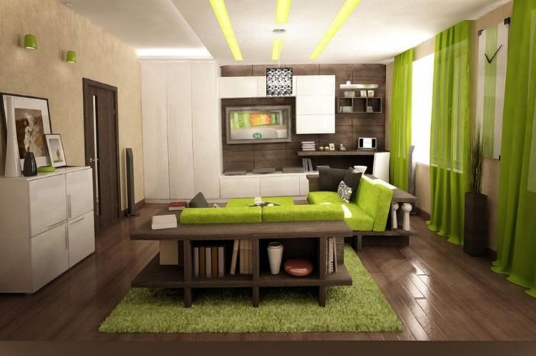 design : wohnzimmer mit grün ~ inspirierende bilder von wohnzimmer ... - Wohnzimmer Grau Grun Braun