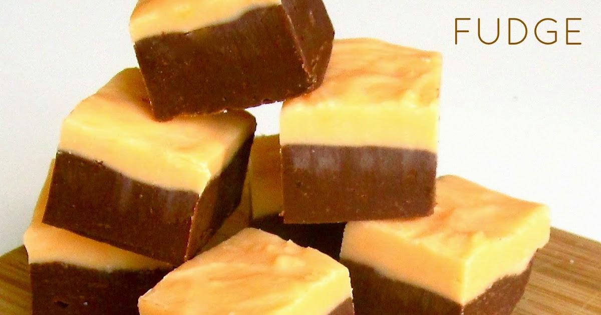 Layered Chocolate Orange Fudge The Lindsay Ann