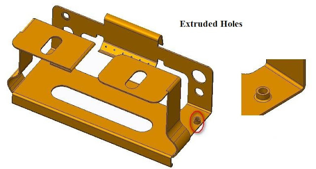 Extrude Cut ,Holes Extrude Cut ,Holes