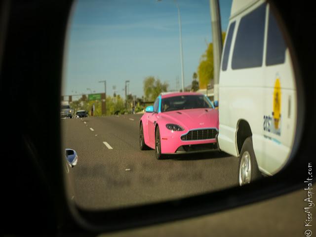 Aston Martin Vantage pink
