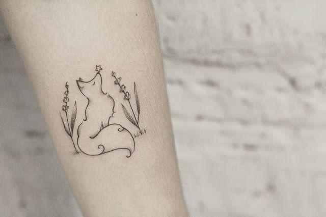 Lavender Tattoo Wrist