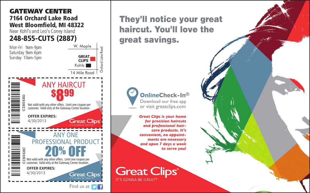 Great Clips Coupons 699