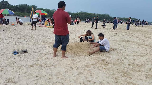 Pasir Pantai Pulau Cinta Kampar