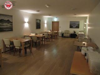 Salón de desayuno del Húsavík Cape Hotel