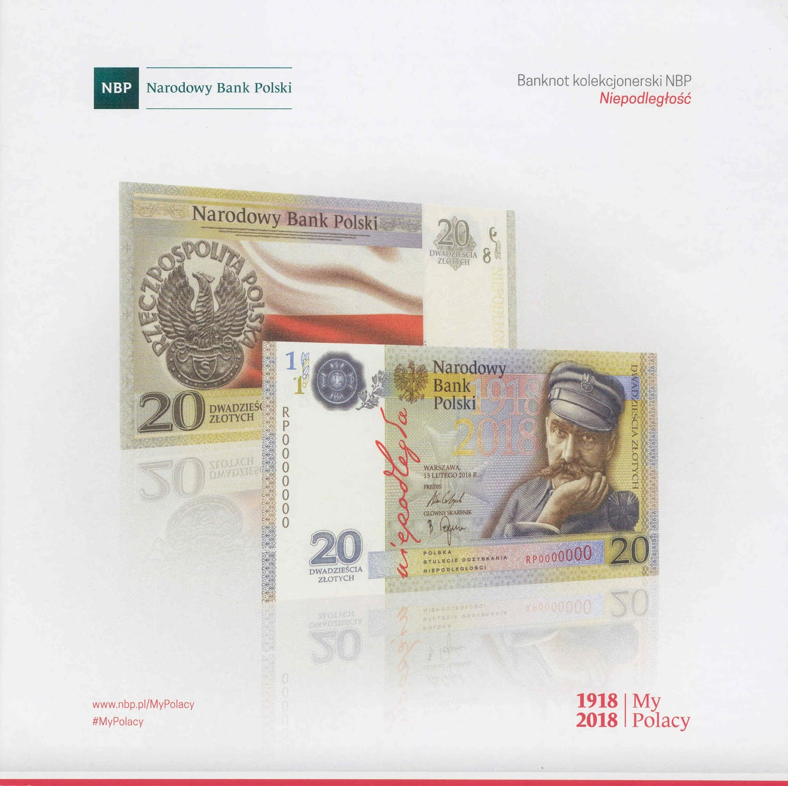 commemorative banknotes: Poland - 20 Zloty 100th Year of Indepedence
