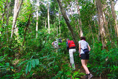 hiking upwards slowly