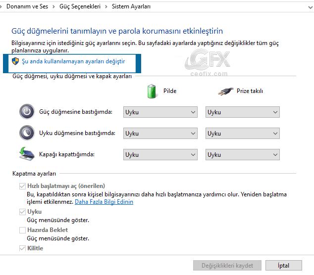 windows hızlı başlat -www.ceofix.com
