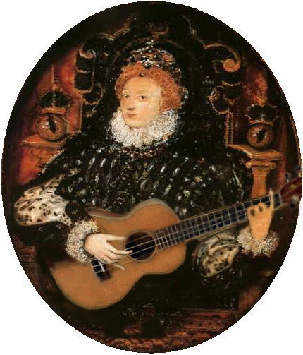Renaissance ukulele player