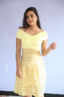 Shipra gaur in V Neck short Yellow Dress ~  069.JPG