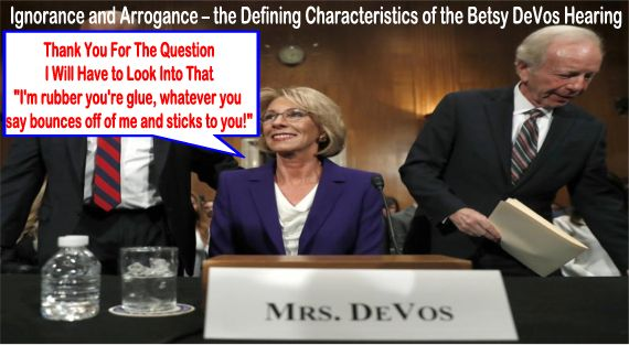 Image result for Betsy DeVos' ignorance