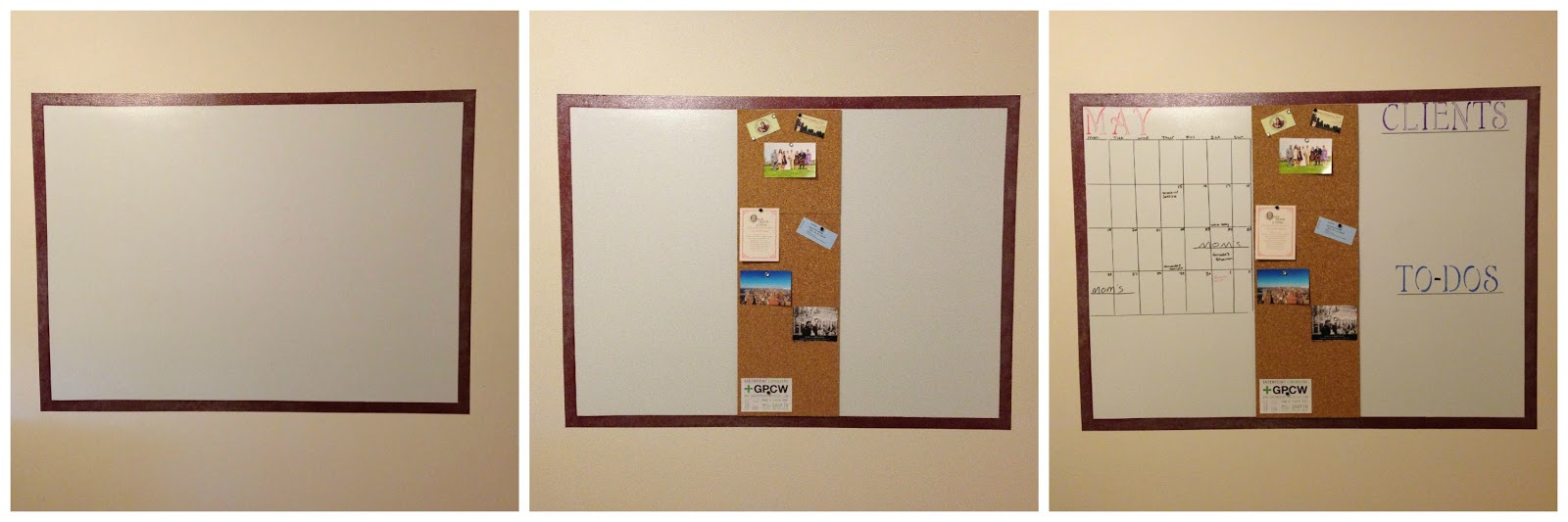 DIY Whiteboard-For Home Office | Moving to NYC 101